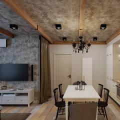 Сканди-лофт: интерьер в нюансах: Столовые комнаты в . Автор – Fusion Dots, Эклектичный