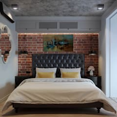 Сканди-лофт: интерьер в нюансах: Спальни в . Автор – Fusion Dots, Эклектичный