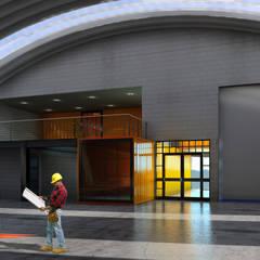 BODEGAS MAFER: Pisos de estilo  por DESIGN HOUSE Arquitectura + Diseño