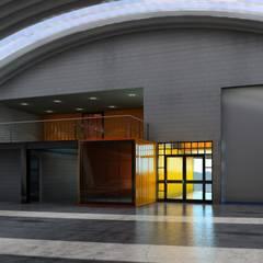 BODEGAS MAFER: Balcón de estilo  por DESIGN HOUSE Arquitectura + Diseño