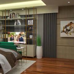 3- Bedroom Condominium Unit:  Bedroom by Corpuz Interior Design