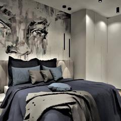 Apartament na wynajem w Kołobrzegu: styl , w kategorii Sypialnia zaprojektowany przez Wkwadrat Architekt Wnętrz Toruń,