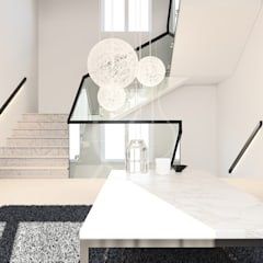 Modern Minimal Interior Design:  Stairs by Comelite Architecture, Structure and Interior Design