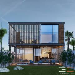 Residencia RP [Bahia de Banderas, Nay.]: Casas unifamiliares de estilo  por 3C Arquitectos S.A. de C.V.