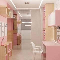 RDJ - Quarto de Menina: Quartos das meninas  por Studio MBS Arquitetura
