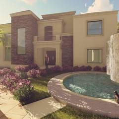 Casa CEV : Casas unifamiliares de estilo  por MVH Arquitectos