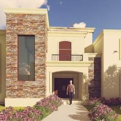 Casas unifamiliares de estilo  por MVH Arquitectos