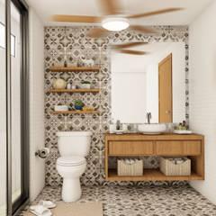 BOHE: Baños de estilo  por MURO 31 ESTUDIO, Ecléctico Madera Acabado en madera