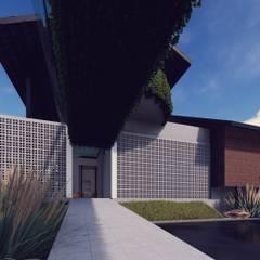 Izat's Bungalow:  Corridor & hallway by LI A'ALAF ARCHITECT, Modern