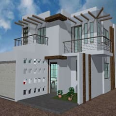 Casas pequeñas de estilo  por PRODESAC