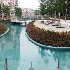 Estanques de jardín de estilo  por Tiger Yapı Peyzaj a.ş, Rural