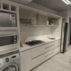 Petites cuisines de style  par Deca Estúdio,