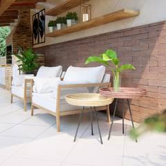 Terrace by Studio MP Interiores , Rustic Solid Wood Multicolored