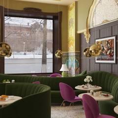 Дизайн рестроана в стиле модерн: Ресторации в . Автор – Дизайн студия VIINAPUU, Модерн Дерево Эффект древесины