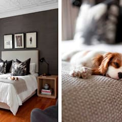 Parkhurst, JHB:  Small bedroom by Metaphor Design, Modern Solid Wood Multicolored