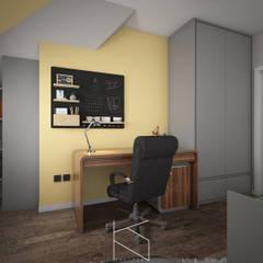 Mieszkanie na poddaszu, 58 m2, Polkowice: styl , w kategorii Domowe biuro i gabinet zaprojektowany przez KN.wnętrza