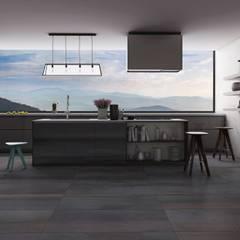 Cocinas abiertas: Cocinas de estilo  por Interceramic MX, Moderno Cerámico