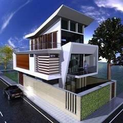 Casa Margery: Casas unifamiliares de estilo  por ZETA CONSTRUCTORES LTDA,