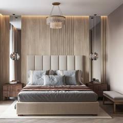 Дизайн-проект интерьера в современном стиле: Спальни в . Автор – L.DesignStudio, Эклектичный