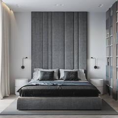 Дизайн-проект двухкомнатной квартиры в современном стиле: Спальни в . Автор – L.DesignStudio, Эклектичный