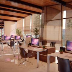 Remodelación Farallón: Estudios y oficinas de estilo  por Ancla Imports S.A. de C.V.