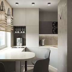 Small-kitchens توسطligrandesign.ru, اسکاندیناویایی