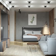 Small bedroom by ligrandesign.ru