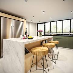 VIVIENDA FQ: Cocinas equipadas de estilo  por PAR Arquitectos,