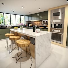 Built-in kitchens by PAR Arquitectos, Modern Aluminium/Zinc