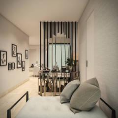VIVIENDA FQ: Salas / recibidores de estilo  por PAR Arquitectos, Moderno Compuestos de madera y plástico
