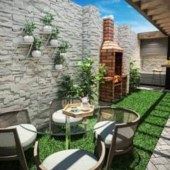 VIVIENDA FQ: Jardines de estilo  por PAR Arquitectos, Moderno Concreto