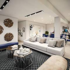 VIVIENDA FQ: Salas / recibidores de estilo  por PAR Arquitectos,