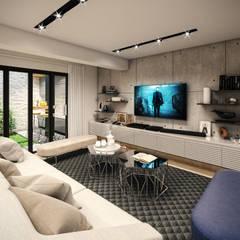 VIVIENDA FQ: Salas / recibidores de estilo  por PAR Arquitectos
