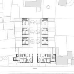 Patiowoningen en appartementen Hennemettenstraat, Gronsveld:  Eengezinswoning door Verheij Architecten BNA,