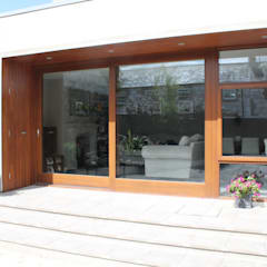 House Extension, Conservation area, Co. Tyrone:  Detached home by Marshall McCann Architects, Modern Wood Wood effect