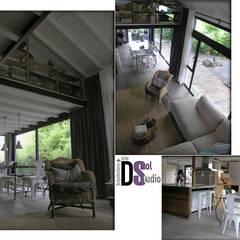اتاق کار و درس توسطDSol Studio de Arquitectura + Arte, راستیک (روستایی) سنگ