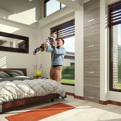 Condominio Campestre Reservas de Oinarí : Habitaciones de estilo  por Solsiem Constructora SAS,