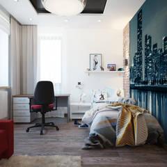 Загородный дом в г. Истра: Спальни для мальчиков в . Автор – lesadesign, Модерн