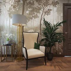 Загородный дом в г. Истра: Лестницы в . Автор – lesadesign, Модерн Дерево Эффект древесины