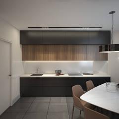 Квартира молодого человека, г. Видное: Встроенные кухни в . Автор – lesadesign,