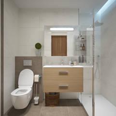 Квартира молодого человека, г. Видное: Ванные комнаты в . Автор – lesadesign,