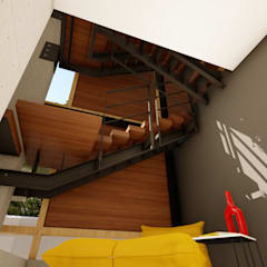 Albert Road, Tamboerskloof:  Stairs by Inline Spaces Pty Ltd, Modern