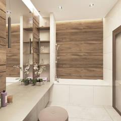 дизайн квартиры в современном стиле 92кв.м.: Ванные комнаты в . Автор – lesadesign,