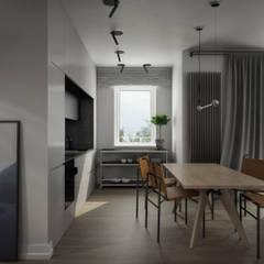 mieszkanie: styl , w kategorii Aneks kuchenny zaprojektowany przez oshi pracownia projektowa