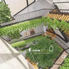 NHÀ PHỐ CAO BẰNG TRÀN NGẬP ÁNH SÁNG :  Cầu thang by Green Interior,