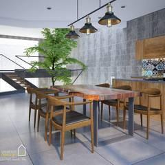 NHÀ PHỐ CAO BẰNG TRÀN NGẬP ÁNH SÁNG :  Phòng ăn by Green Interior