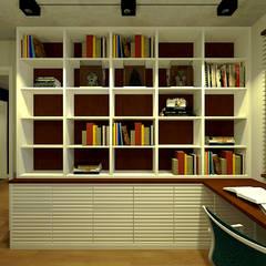 Apartamento do Victor Escritórios minimalistas por OBARQ Minimalista
