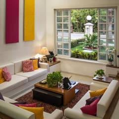 Casa B4: Salas de estilo  por Arquigraph | arquitectura + diseño, Mediterráneo Concreto