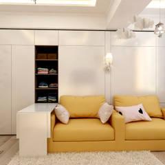 Желтая детская для двух девочек: Детские комнаты в . Автор – Цунёв_Дизайн. Студия интерьерных решений., Эклектичный