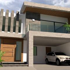 CASA HABITACIÓN CEDROS 113: Casas unifamiliares de estilo  por V+C Arquitectura